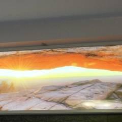 Świecący kanion w łazience Nowoczesna łazienka od Visual Design Nowoczesny