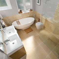 Family Bathroom, SW19 : modern Bathroom by Grand Design London Ltd