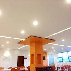 Comedor Grupo Gondi : Paredes de estilo  por Visual Concept / Arquitectura y diseño