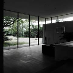 Blick aus dem Wohnbereich: moderne Wohnzimmer von dürschinger architekten