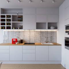 مطبخ تنفيذ Kristina Petraitis Design House
