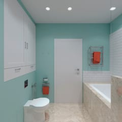 Baños de estilo  por Kristina Petraitis Design House