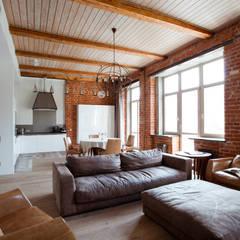 اتاق نشیمن توسطДизайн-студия интерьера 'ART-B.O.s', صنعتی