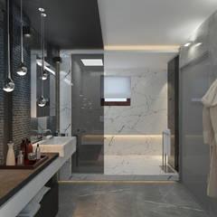 Коттедж в Тайланде, Пхукет: Ванные комнаты в . Автор – Дизайн - студия Пейковых