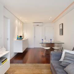Apartamento 08: Salas de jantar modernas por Estúdio Barino | Interiores