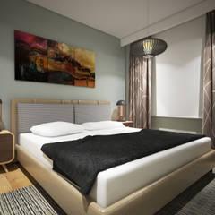 yücel partners – Villa Taşbaşı : iskandinav tarz tarz Yatak Odası