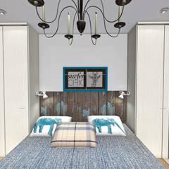 Интерьер спальни:  в . Автор – Мастерская дизайна ЭГО,