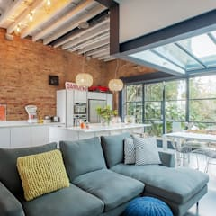Full House Renovation with Crittall Extension, London by HollandGreen Industrial