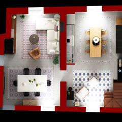 la disposizione degli ambienti principali della casa: Case in stile  di Beniamino Faliti Architetto