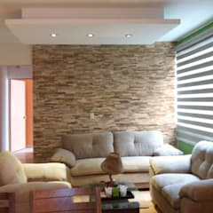 Decoración y diseño de interiores México DF.: Paredes de estilo  por Claire Concepto