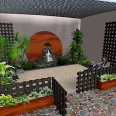 Jardines de estilo  por Zen Ambient