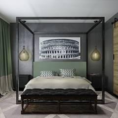 Лофт-Апартаменты в ж.к. TriBeCa: Спальни в . Автор – Oh, Boy! Интерьеры с мужским характером