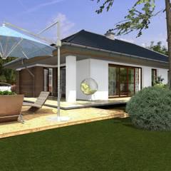 DZ-1 - dom energooszczędny: styl , w kategorii Domy zaprojektowany przez ABC Pracownia Projektowa Bożena Nosiła - 1