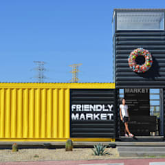 THE CONTAINER´S SQUARE: Espacios comerciales de estilo  por Progressive Design Firm, Industrial