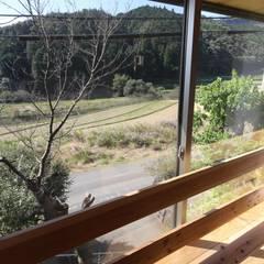 M邸ー大きな窓の家: C-design吉内建築アトリエが手掛けた窓です。