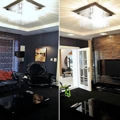 Rezydencja w Jaworzu: styl , w kategorii Pokój multimedialny zaprojektowany przez Studio Mirago