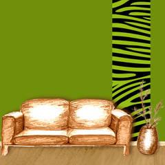 Bordueren für die Großen - Wohnzimmer | Schlafzimmer | Bad & andere Wohnräume:  Wohnzimmer von Mein Bordürenladen