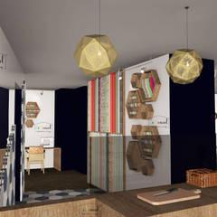 Intérieur - Espace cuisine et mercerie: Bars & clubs de style  par Démenciel