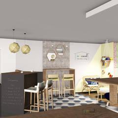 Intérieur - espace Café: Bars & clubs de style  par Démenciel
