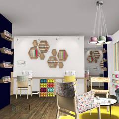 Intérieur - espace création et mercerie: Bars & clubs de style  par Démenciel