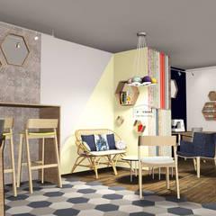 Intérieur - espace café et création: Bars & clubs de style  par Démenciel