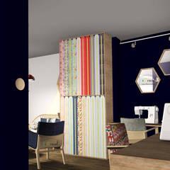 Intérieur- espace création et mercerie: Bars & clubs de style  par Démenciel