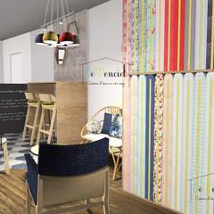 Intérieur - espace mercerie et café: Bars & clubs de style  par Démenciel