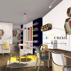 Espace Création et mercerie: Bars & clubs de style  par Démenciel