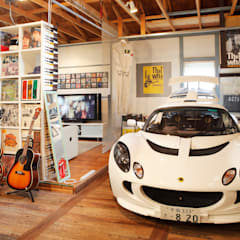 Garagens e edículas  por J-STYLE GARAGE Co.,Ltd.