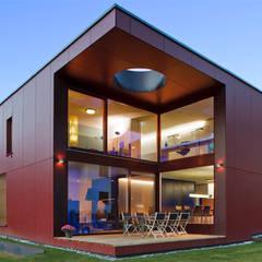 Minegie EFH Michlig, Ried-Brig: moderne Häuser von VOMSATTEL WAGNER ARCHITEKTEN ETH BSA SIA