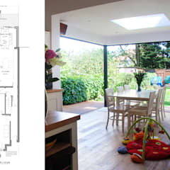 East Finchley, Barnet N2, London | House extension:  Dining room by GOAStudio | London residential architecture