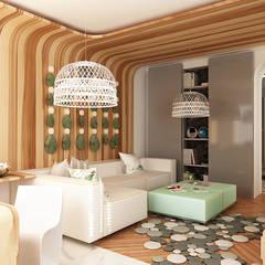 Гостиная: Гостиная в . Автор – WhiteRoom, Средиземноморский