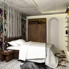 Спальня: Спальни в . Автор – WhiteRoom, Средиземноморский