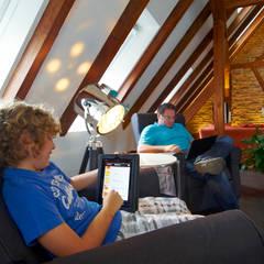 Funk fürs Fachwerk:  Wohnzimmer von Somfy GmbH