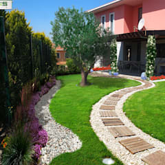 asis mimarlık peyzaj inşaat a.ş. – Sultan Konakları Villa Projesi Tasarımı Ve Uygulaması:  tarz Bahçe, Modern