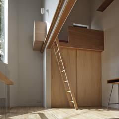 段床三角ボイドの家: 宮武淳夫建築+アルファ設計が手掛けた子供部屋です。,