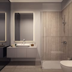 Voltaj Tasarım – AA EVİ: minimal tarz tarz Banyo