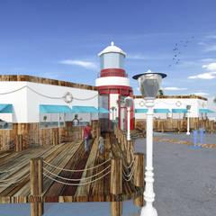 Muelles: Bares y discotecas de estilo  por Acrópolis Arquitectura