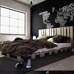 Dormitorios de estilo  por SK ARCHITECTURAL VISUALIZATION