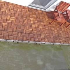 Group Enerji Yapı Dekorasyon – Dectropic Balkon Teras Ahşap Yer Karosu 30x30cm:  tarz Teras