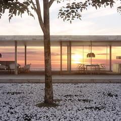 Exterior casa Uruguay: Casas de estilo  de Lemons Bucket