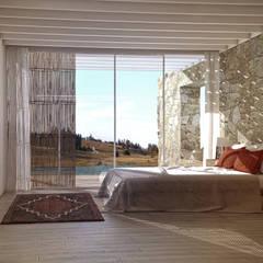 Casa en Uruguay por Juan José Pérez Moncho: Dormitorios de estilo  de Lemons Bucket