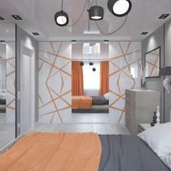 Однокомнатная квартира 40 кв.м.: Спальни в . Автор – Мастерская архитектуры и дизайна FOX, Модерн