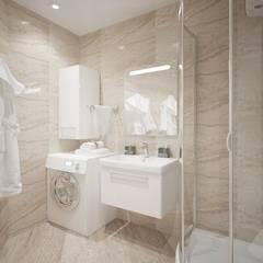 Однокомнатная квартира 40 кв.м.: Ванные комнаты в . Автор – Мастерская архитектуры и дизайна FOX, Модерн