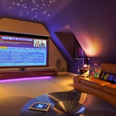 Incredible Loft Cinema Conversion: modern Media room by New Wave AV