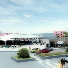 ROAS ARCHITECTURE 3D DESIGN AGENCY – EXTERIOR DESIGN FOR CITY MARKETPLACE:  tarz Teras