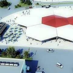 ROAS ARCHITECTURE 3D DESIGN – Top View:  tarz Teras