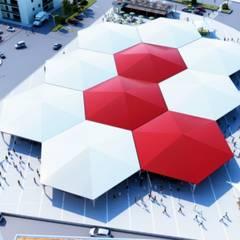 ROAS ARCHITECTURE 3D DESIGN – Bird Eye View:  tarz Teras