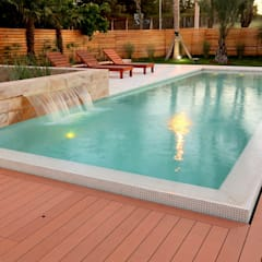 Pool by Piscinas Scualo, Modern Wood Wood effect
