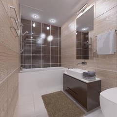 Студия-лофт в Тюмени: визуализация и дизайн: Ванные комнаты в . Автор – OK Interior Design, Модерн
